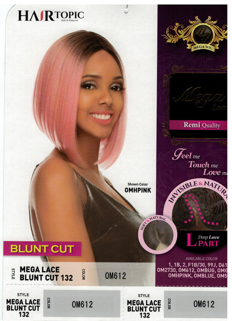 Hair Topic Mega Lace 132 Blunt Cut L Part Wig - Hair Crown Beauty Supply