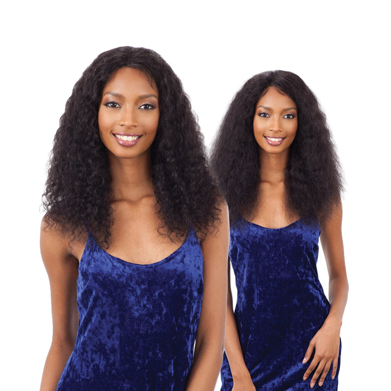 Naked Nature 100 Human Hair Lace Front Wig DEEP CURL - Hair Crown Beauty Supply