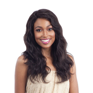 Naked Unprocessed Remy L Part Lace Front Natural Wavy - Hair Crown Beauty Supply