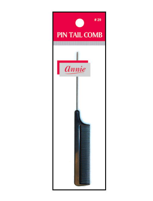 Annie Pin Tail Comb with Metal Tail BLACK - Hair Crown Beauty Supply