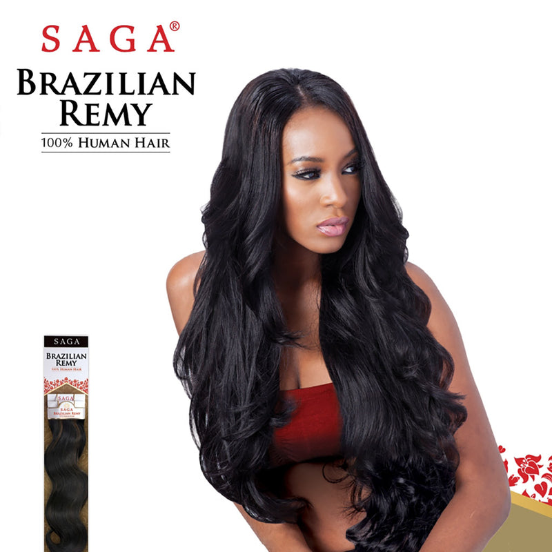 "SAGA Brazilian Remy Yaky 12"" - Hair Crown Beauty Supply"