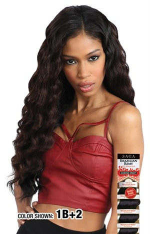 "SAGA Brazilian Remy Loose Deep 12"" - Hair Crown Beauty Supply"