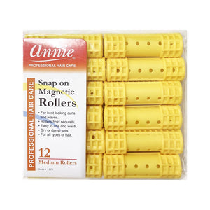 Annie #1223 Snap On Magnetic Rollers MEDIUM (12CT)