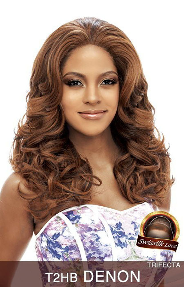 Vanessa Honey-2 Human Hair Blend  Deep N Wide Lace Front Wig DENON | Hair Crown Beauty Supply