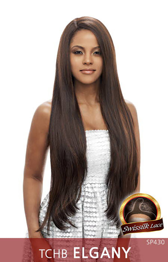 Vanessa Honey-C Brazilian Human Hair Blend Lace Front Wig TCHB ELGANY | Hair Crown Beauty Supply