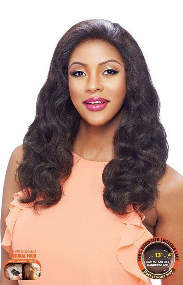 Vanessa Honey Brazilian Human Hair Deep Front Lace Wig TH34NC INDESA | Hair Crown Beauty Supply