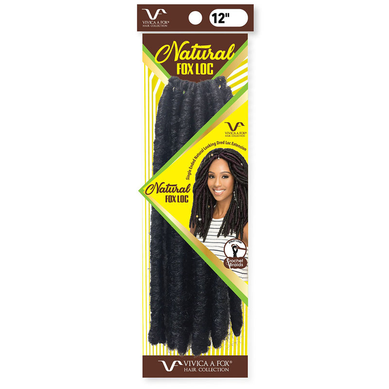 "VIVICA FOX Natural Fox Loc 12"" Crochet Braid 