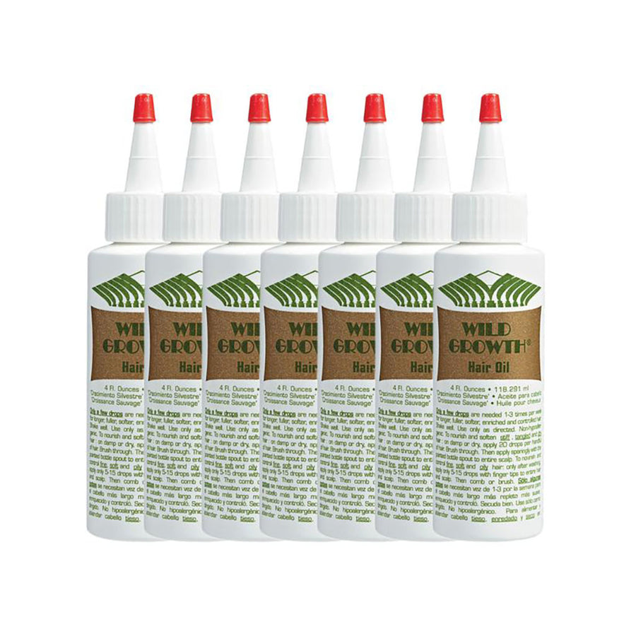 (7 Pack) Wild Growth Hair Oil - Hair Crown Beauty Supply