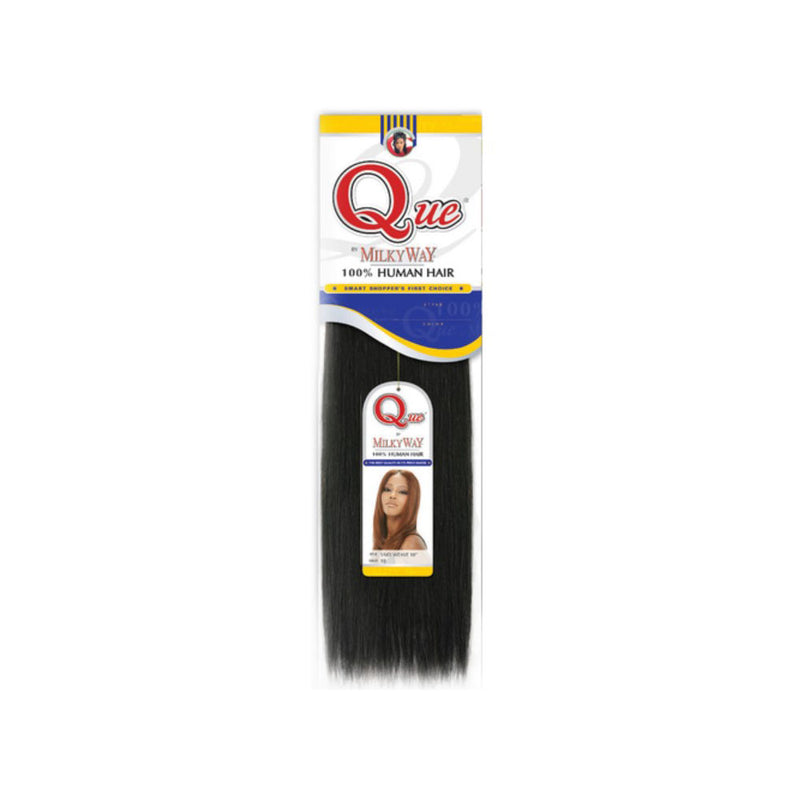 MilkyWay QUE  100% Human Hair Yaky Weave 12"
