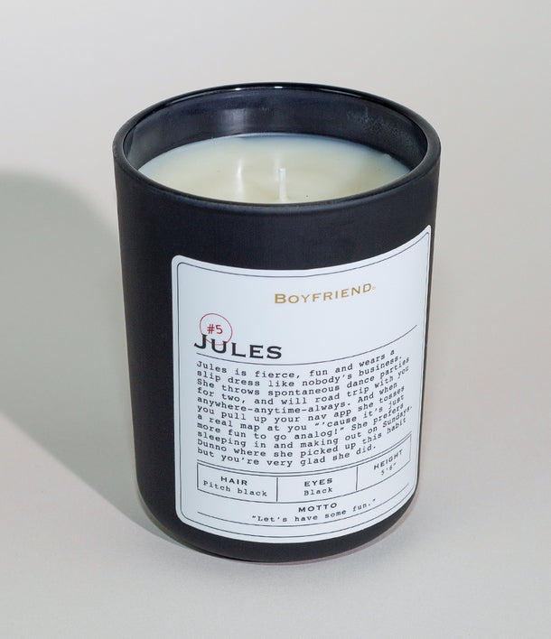 Boyfriend Candle by Kate Walsh