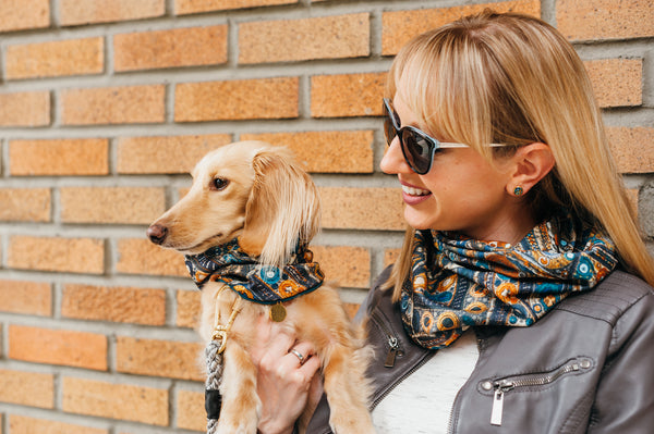 Matching Sets: Fashion: Human Neck Scarf & Dog Neck Scarf  - Tesoro Gems