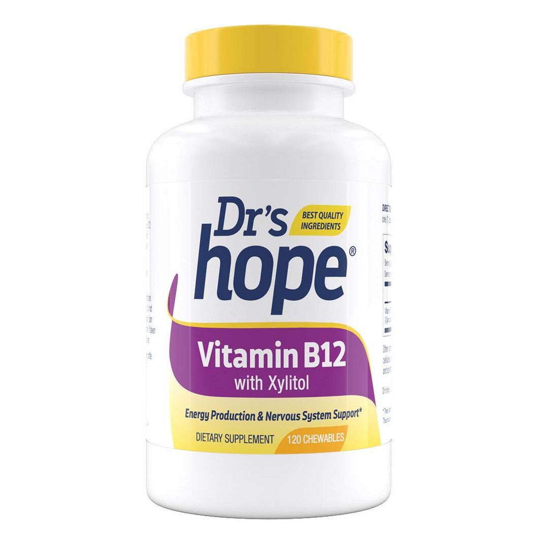Vitamin B12 – Healthy Energy Levels and Speeds up Metabolism – Chewables