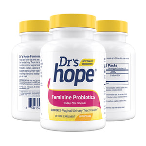 Feminine Probiotics - Supports Vaginal and Urinary Tract Health - 60 Veggie Caps