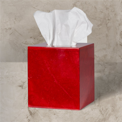 CJ Red Tissue Box