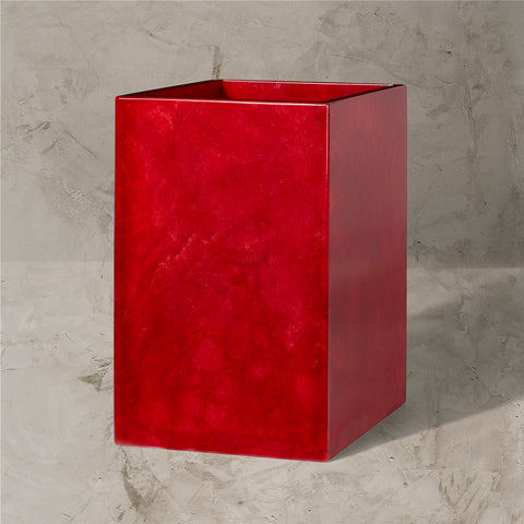 CJ Red Wastebasket