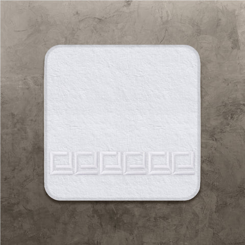 White CJ Wash Cloth