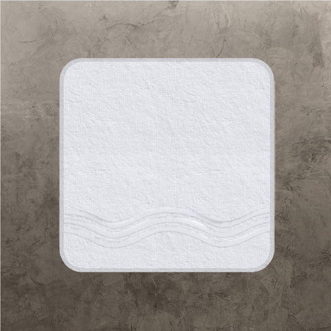 White Onde Wash Cloth