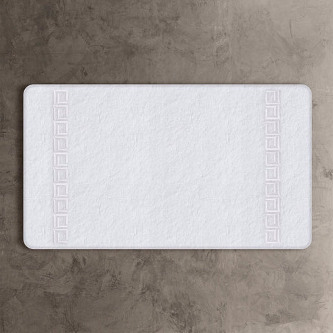 White CJ Bath Mat