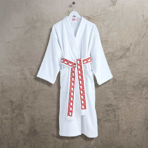 Red CJ Kimono Robe with Belt