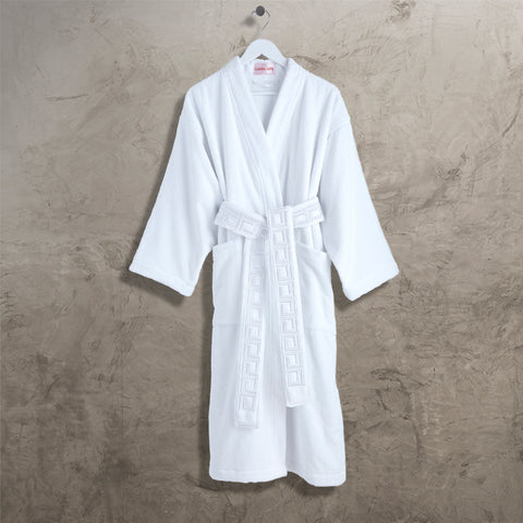 White CJ Kimono Robe with Belt