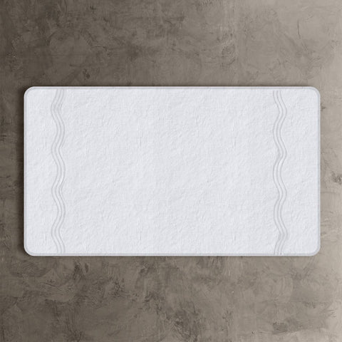 White Onde Bath Mat