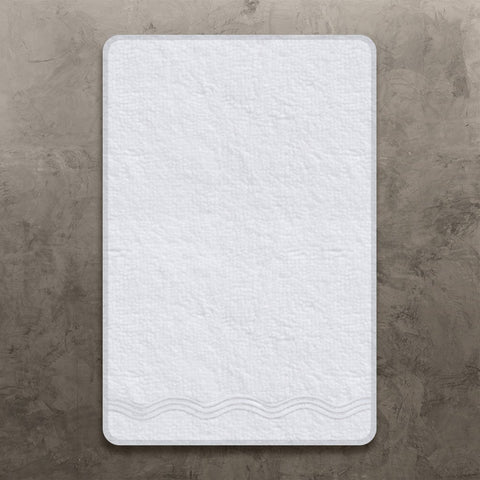 White Onde Hand Towel