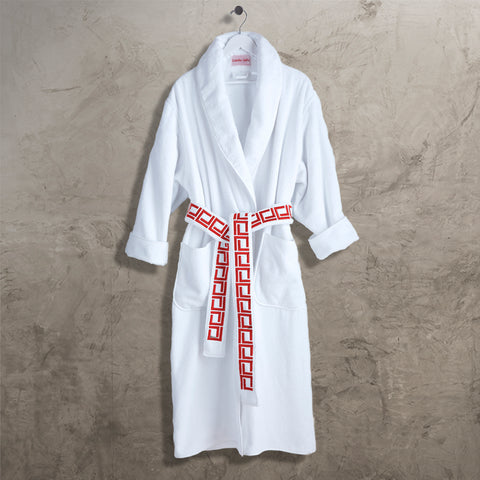 Red CJ Shawl Collar Robe with Belt