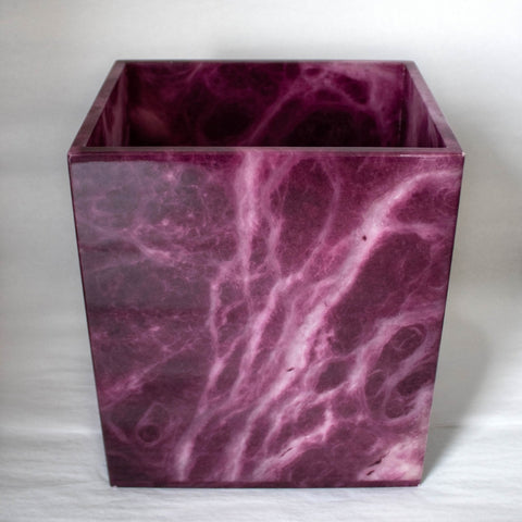 Bordeaux Alabaster Wastebasket
