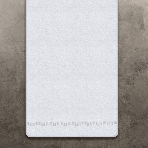 White Onde Bath Towel