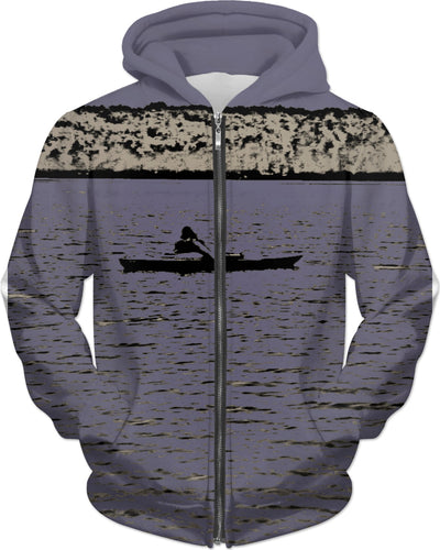 Kayak Kid Blue Hoodie for Women