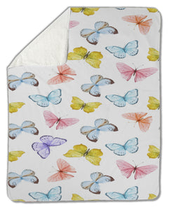 Watercolor Butterfly Blanket
