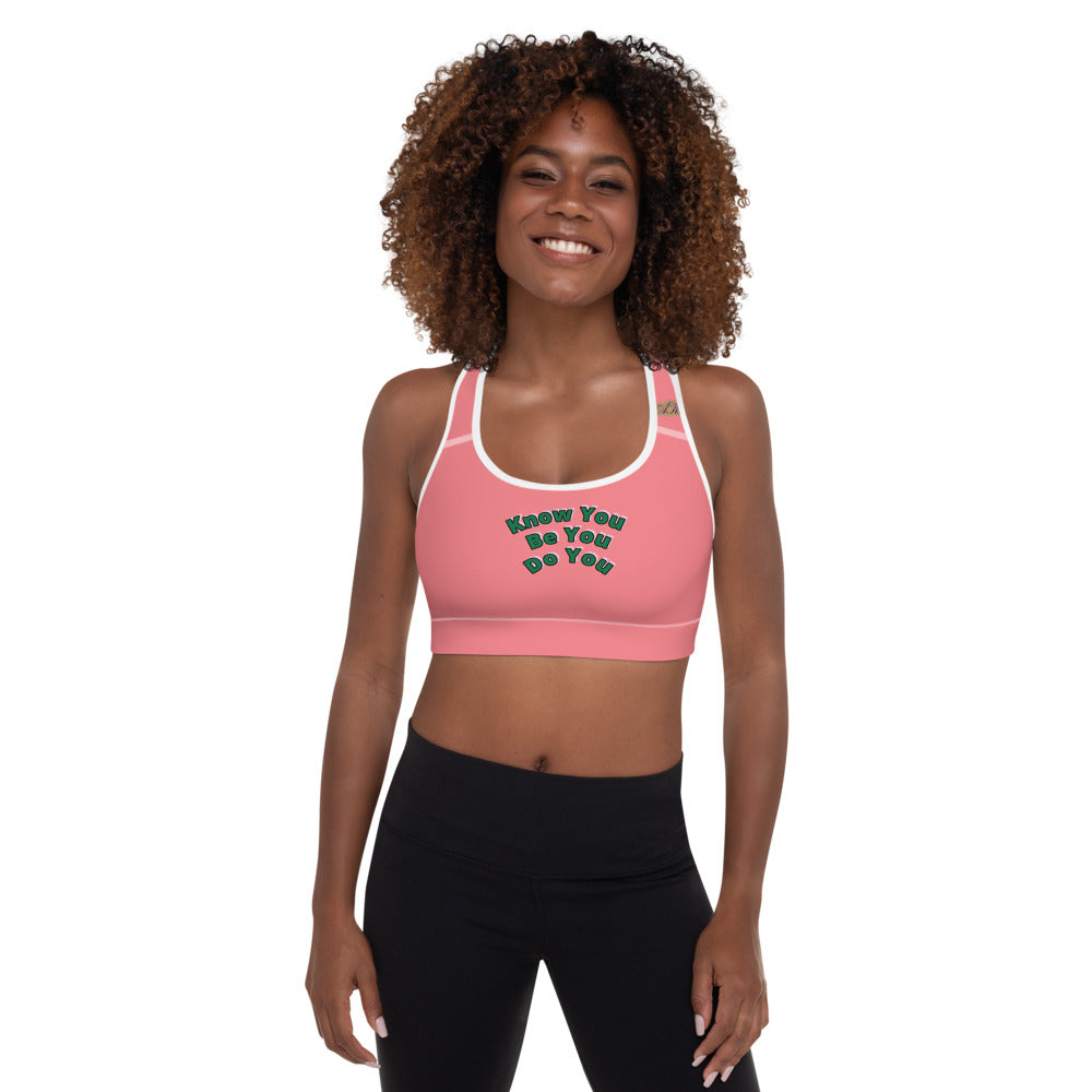 Pink & Pearls Edition Sports Bra