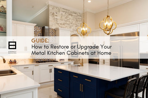 How to Restore or Upgrade Your Metal Kitchen Cabinets at Home