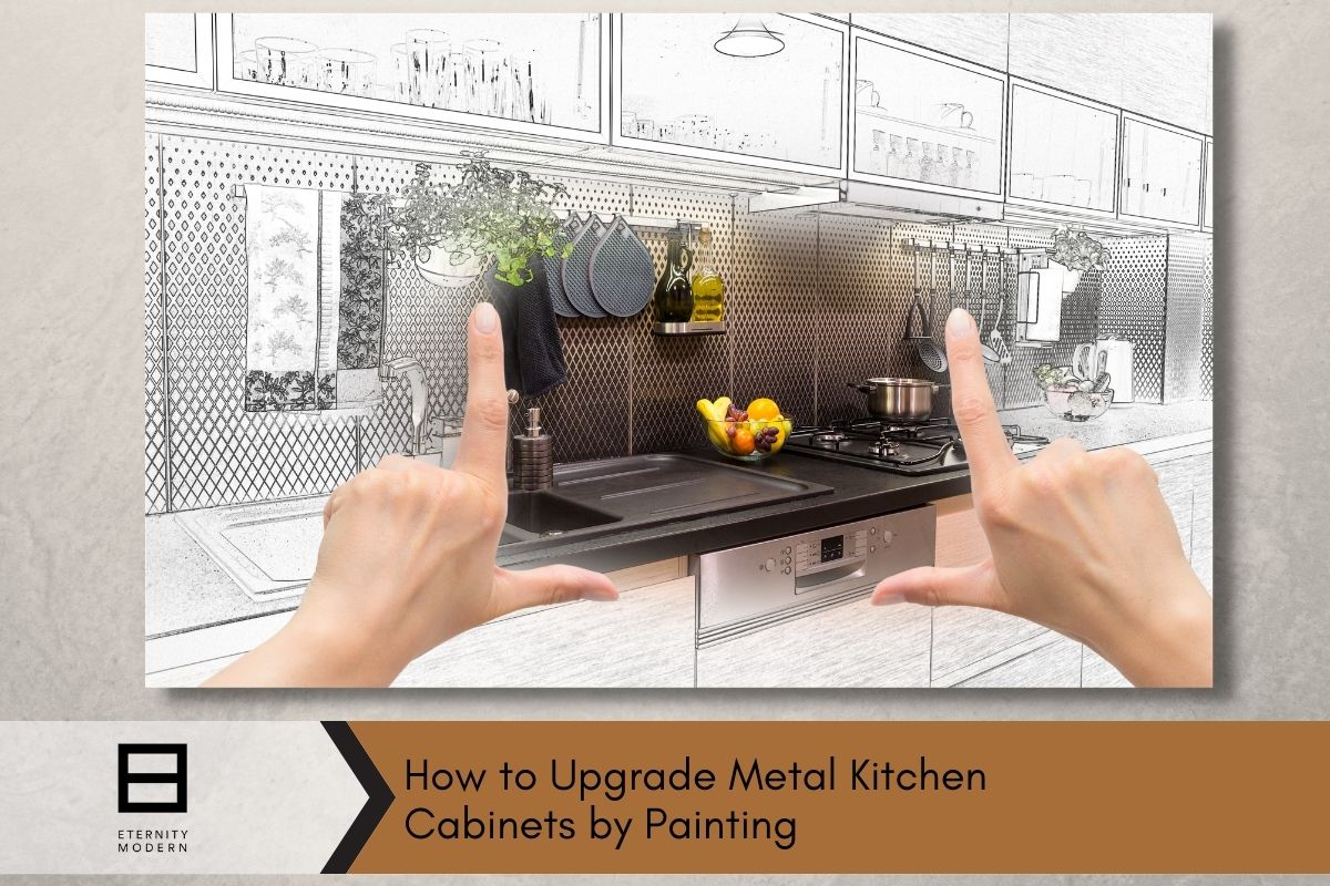 How To Upgrade Metal Kitchen Cabinets By Painting