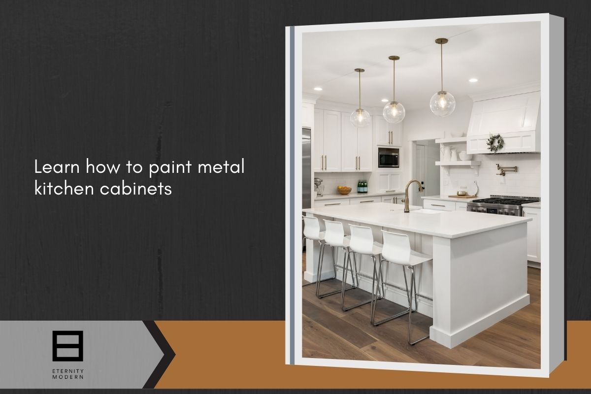 learn how to paint metal kitchen cabinets