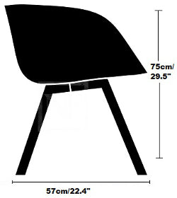 Tom Dixon SCOOP CHAIR Low BACK reproduction