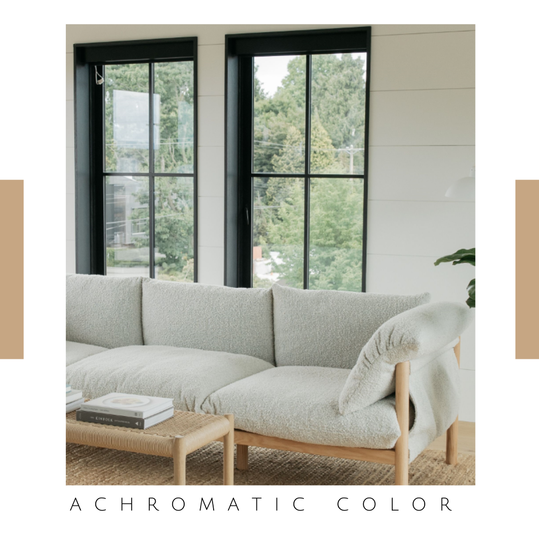 achromatic accent for emery sofa