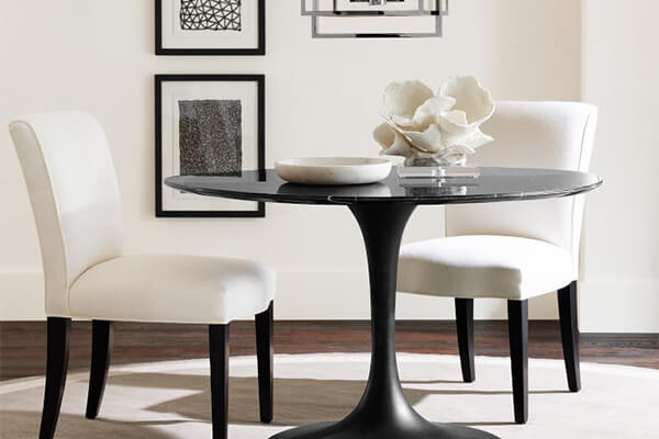 Black Carrara Marble Tulip Dining Table