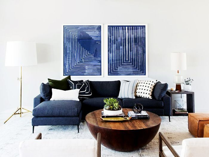 a Small Mid-Century Modern Sectional