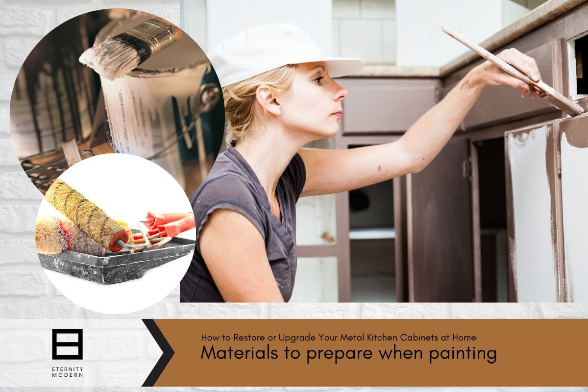 materials to prepare when painting kitchen cabinets