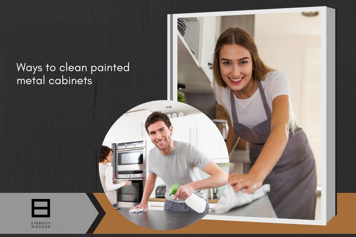 ways to paint kitchen metal cabinets