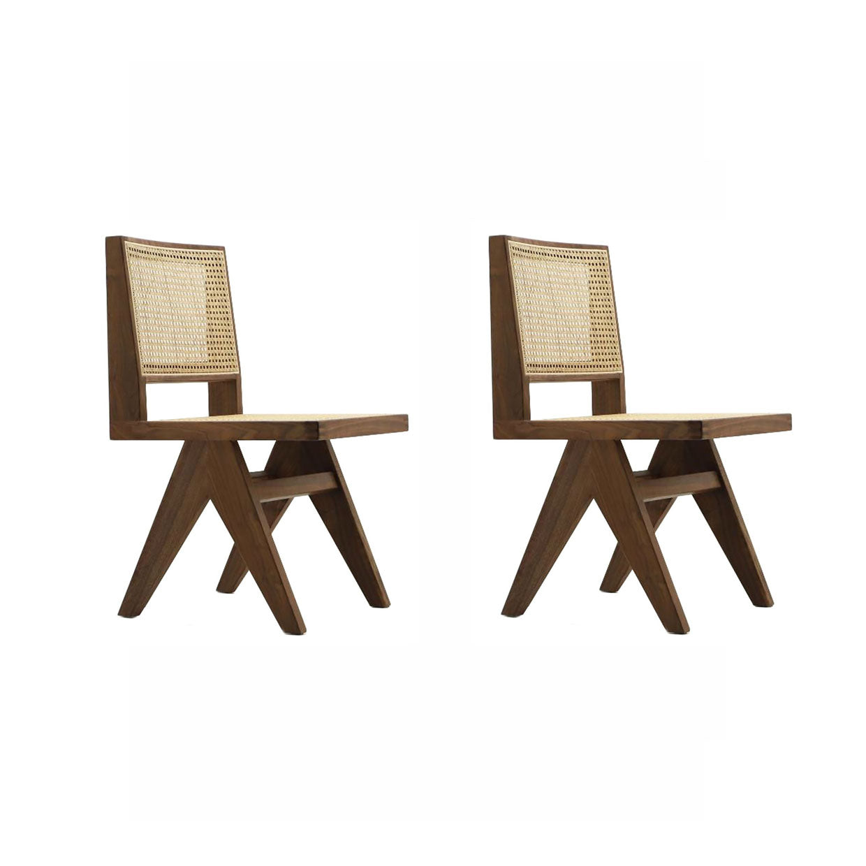 Pierre Jeanneret Set of Two Dining Chair - Oiled Walnut