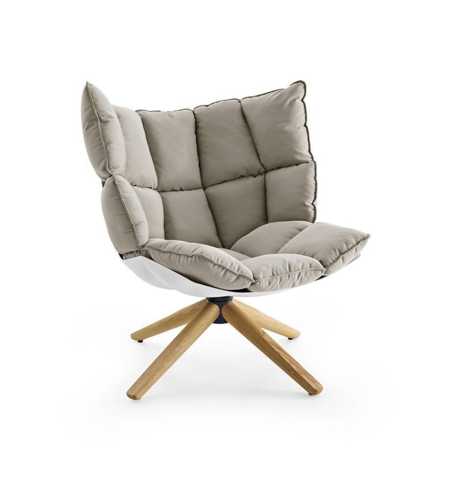 Husk Chair Low Back - Wood Base - EternityModern