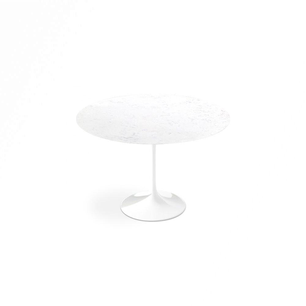 Bianca Neve Calacatta Quartzite<sup>&copy;</sup> Tulip Dining Table - Round - EternityModern