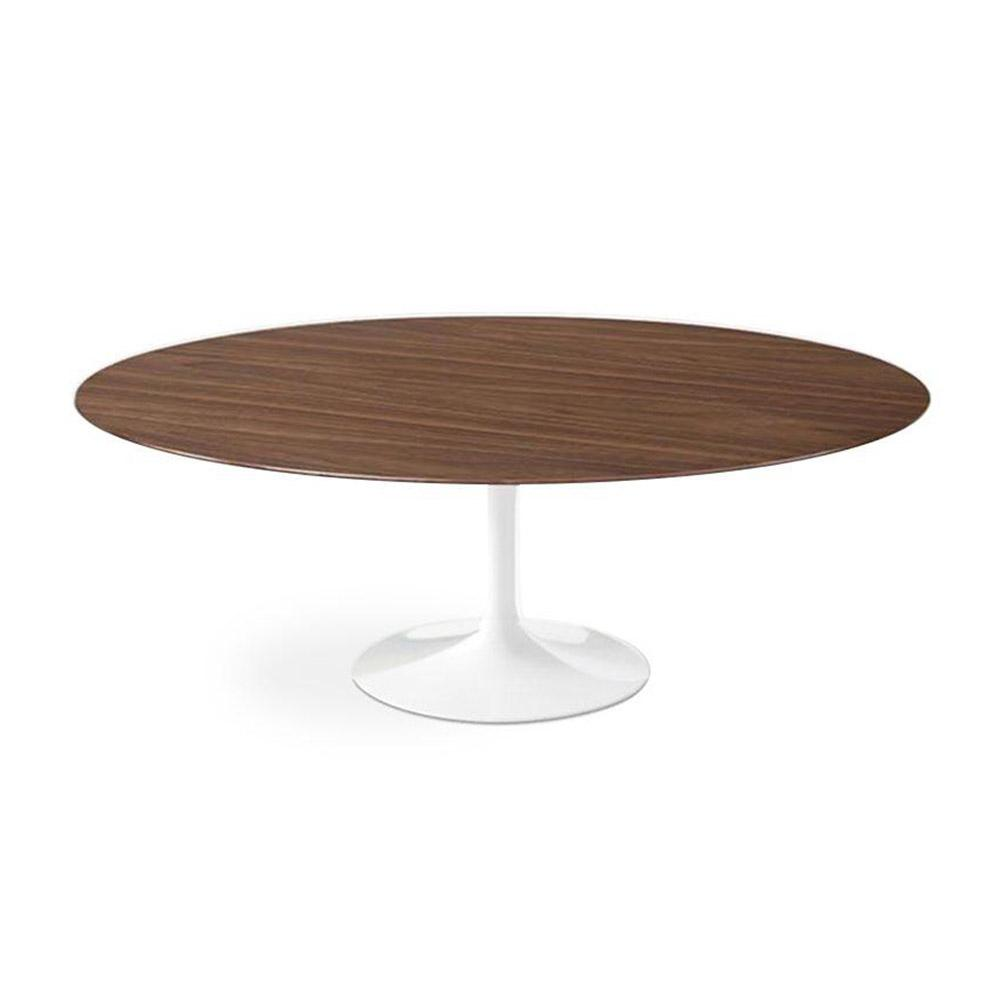 Walnut Dining Table Oval Modern pic