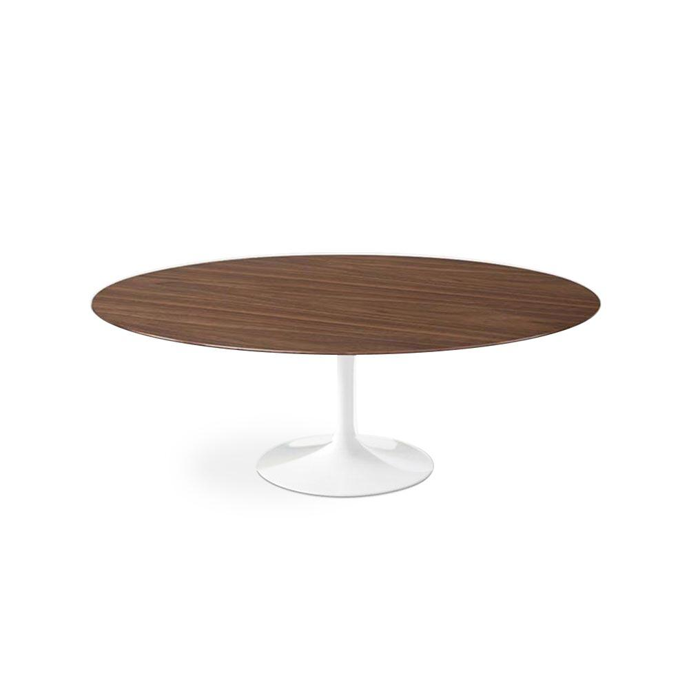 Dark Walnut Wood Tulip Dining Table - Oval - EternityModern