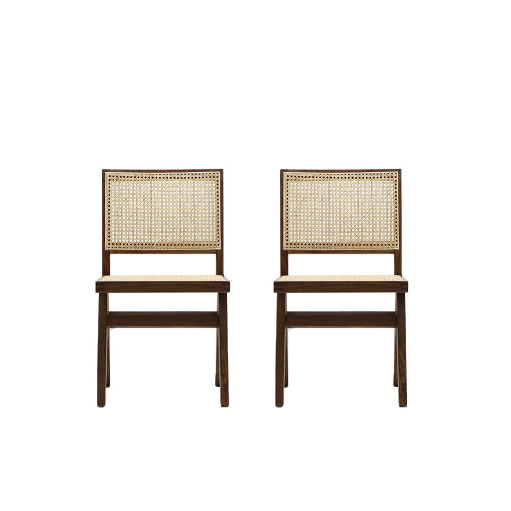 Pierre Jeanneret Set of Two Dining Chair - Customizable