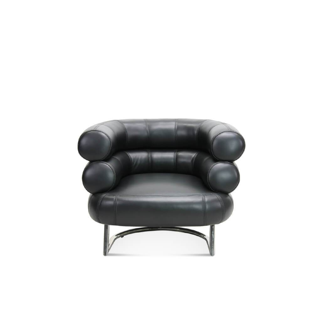 Eileen Gray  Bibendum Chair - Aniline-Dark Brown