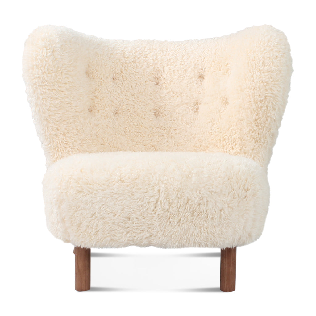Little Petra Lounge Chair - Sheepskin-Long Hair / Walnut