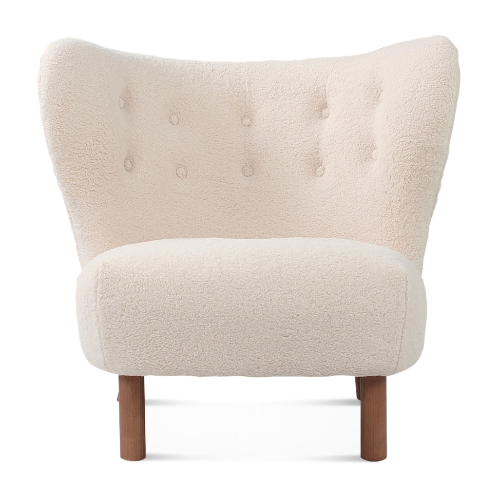 Little Petra Lounge Chair - Sheepskin-Short Hair / Walnut
